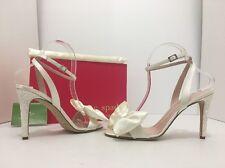 Kate Spade Idella Ivory Satin Glitter Women's Evening High Heels Sandals US 7.5