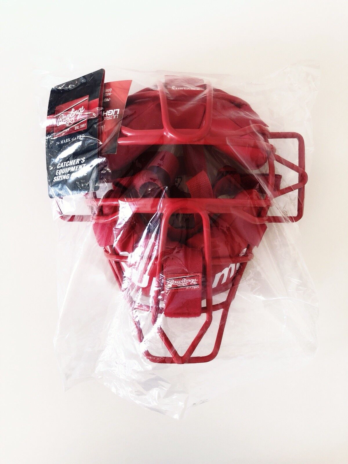 Supreme Rawlings catcher's Mask SS18 caja con logotipo de béisbol rojo