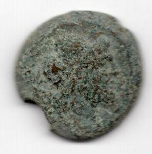 Republic 211-206 BC AE Semis 18.2g 27mm Head of Saturn Ancient Coin