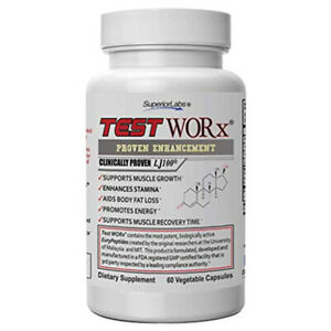 Superior Labs TEST WORx Natural Testosterone Booster for Energy 60 Veg Caps
