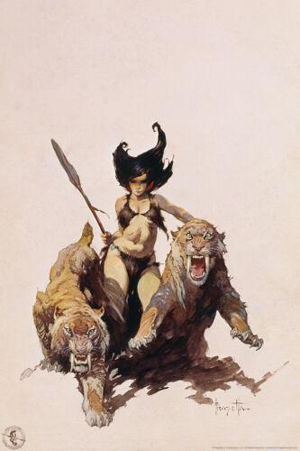 The Huntress by Frank Frazetta Art Print Poster 12x18 inch