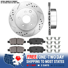 REAR BLACK DRILLED And SLOTTED PLATED BRAKE ROTORS For G35 350Z Rogue