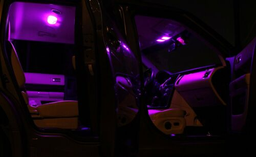 PURPLE LED Interior Lights Replacement for 2007-2015 Jeep Wrangler JK 5 Bulbs