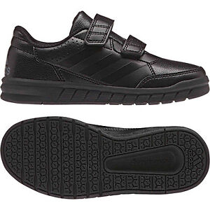 61b0c93947a9 Boys Adidas Alta sports Shoes Black School Casual Kids Trainers ...