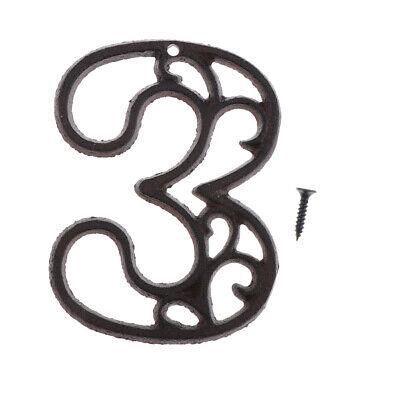2pcs fer metal Maison Signe Porte Numéro Nom Plaque Rue Adresse Plaque 1 2