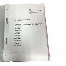 Rohde Amp Schwarz Smr20 Smr27 Smr30 Smr40 Signal Generator Service Manual