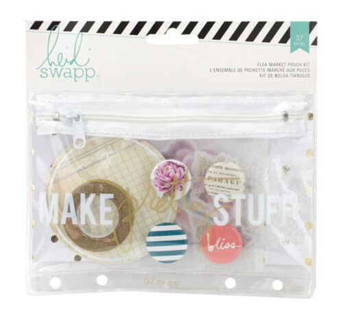 "Heidi Swapp Wander Flea Market pouch Kit #1 /""Make Pretty Stuff/"" Planner 369302"