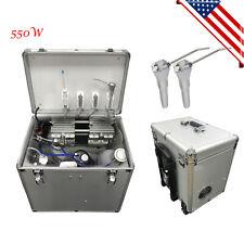 Portable Dental Rolling Delivery Case Turbine Unit 3 Way Syringesuction System