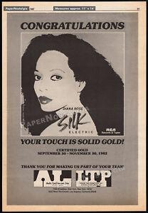 DIANA-ROSS-Silk-Electric-ANDY-WARHOL-Original-1982-Trade-AD-promo-poster-RCA