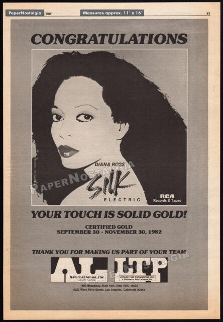 DIANA ROSS_Silk Electric__ANDY WARHOL__Original 1982 Trade AD promo / poster_RCA