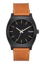 *BRAND NEW* NIXON WATCH THE TIME TELLER BLACK / STAMPED / BROWN A0452664 NIB!