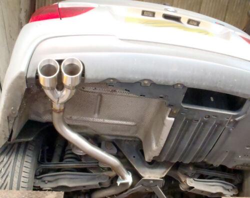 """Twin 3/"""" tail pipe C 320D E90//E91//E92//E93 Rear silencer delete pipe BMW 318D"""