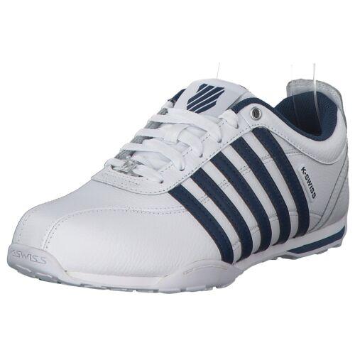 K-Swiss Arvee Hommes Sneaker Low Baskets 02453-105 blanc bleu nouveau