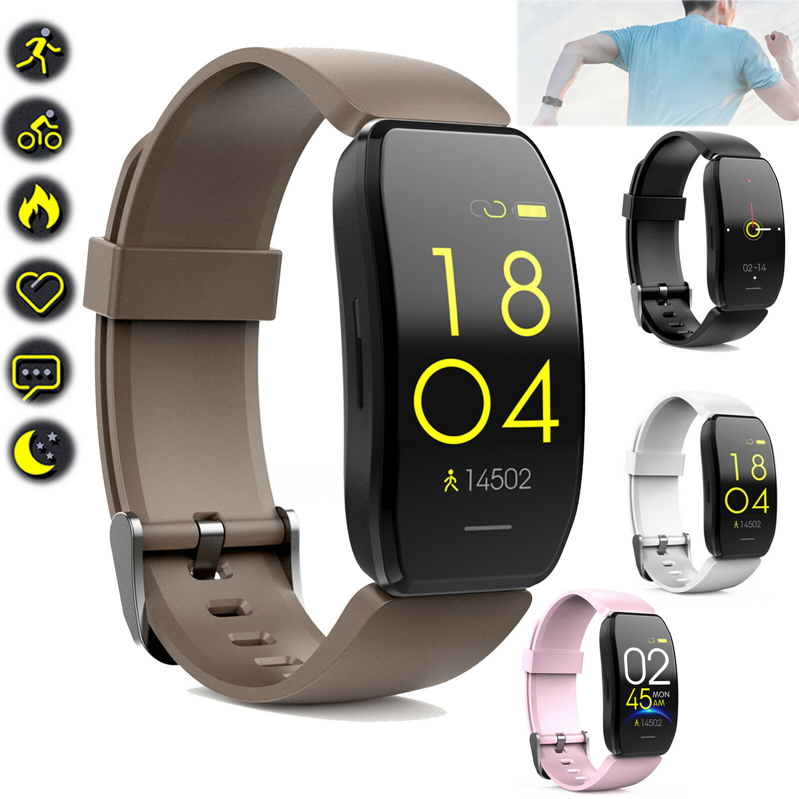 Fitness Tracker Smart Watch Health Heart Rate Monitor Wristwatch For Android IOS Featured fitness for health heart monitor rate smart tracker watch wristwatch