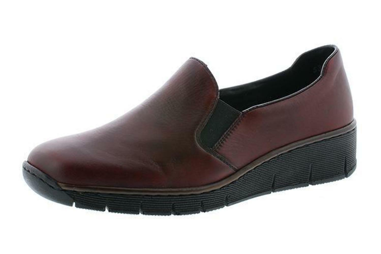 Rieker 53766-36 53766-36 53766-36 rouge Leather Slip on chaussures 6c9010