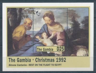 Gambia Block 168** Weihnachten Gemälde Motive 267839