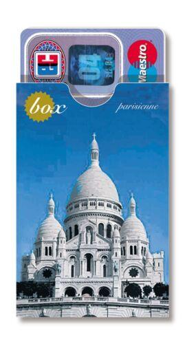 cardbox EC Kartenhülle Urlaubssouvenir Paris Eiffelturm Sacre Coeur Notre Dame