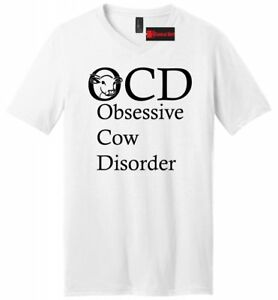 9d79a6f8 OCD Obsessive Cow Disorder Funny Mens V-Neck T Shirt Cattle Rancher ...