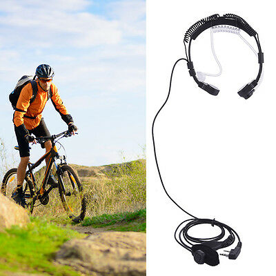 Baofeng Speaker Mic Headset Two-way Radio Mic Throat Interphone with Finger PTT