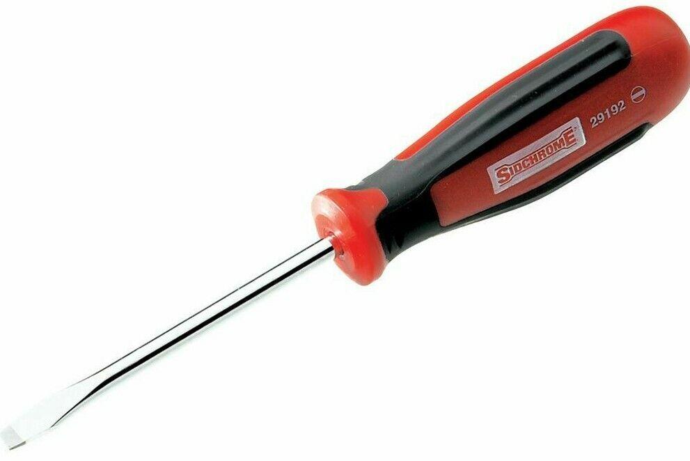 Sidchrome ERGONOMIC SCREWDRIVER 4.75x150mm Parallel Tip Australian Brand