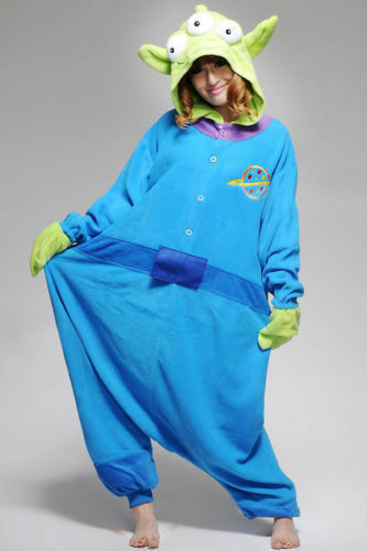 Galactic Spaced Themed Fancy Dress Costume Toy Story Aliens Cosplay suit Gift*
