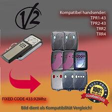 Handsender 433.92 MHz für V2 TPR1-43,TPR2-43,TRR2,TRR4 Antriebe