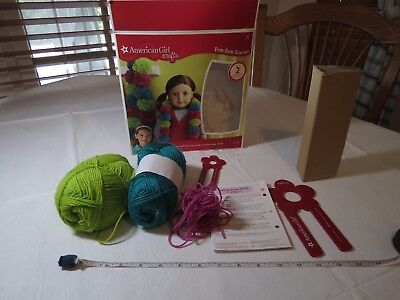 American Girl doll Crafts Pom-Pom scarves kit SOME ITEMS USED yard tools scarf