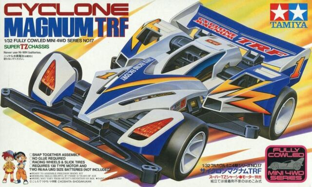 Tamiya 19417 1/32 Fully Cowled Mini 4WD Kit Super TZ Chassis Cyclone Magnum TRF