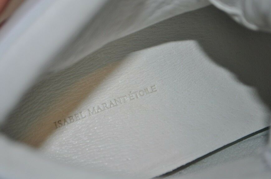 NIB Isabel Marant Etoile BILSY Leather Hidden Hidden Hidden Wedge baskets Beige Khaki vert 38 56a0e4