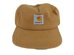 Vintage-Carhartt-Youth-Kids-Baseball-Cap-Hat-Snapback-Brown-Duck-Canvas-Age-4-7