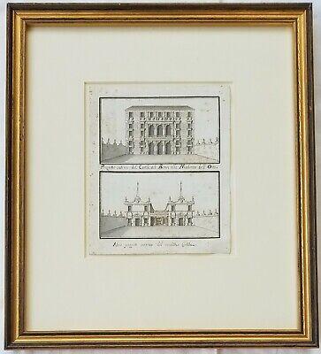 C Stift / Tinte Zeichnung Italienischer Architektur Abbott & Halter Apprehensive 18./19