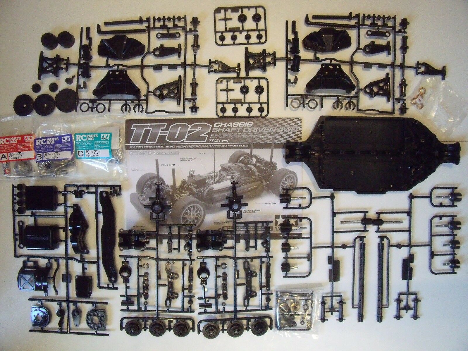 New Tamiya TT-02 4WD R C Touring Car Chassis Kit Only (TT02) On-Road