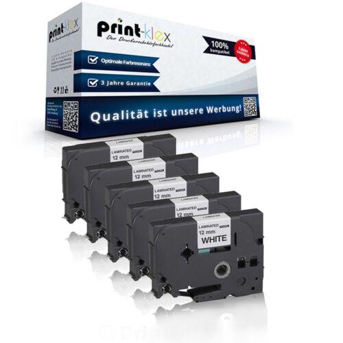 5x Premium kompatible Schriftbänder für Brother TZE231 Schriftrolle Easy Print S