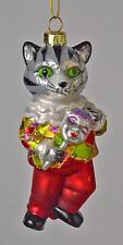 ITALIAN RENAISSANCE COMEDY ARTIST (CAT) ITALY GLASS CHRISTMAS ORNAMENT NEW