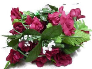 3 Deep Red 5ft 9per Garland Rose Silk Flower Garland Silk Flowers