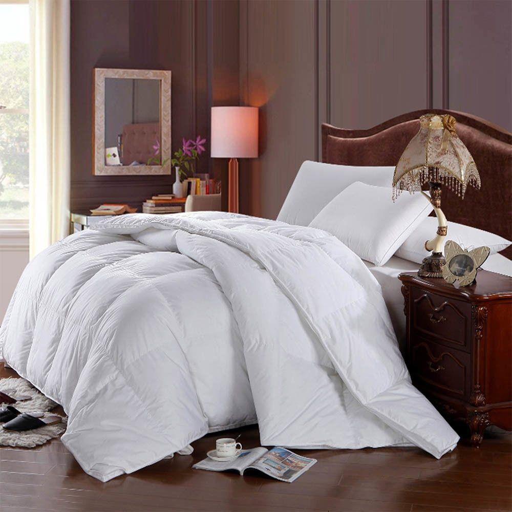 Weiß Baffle Box Hungarian Down Alternative Comforter Ultra Soft Winter Weight