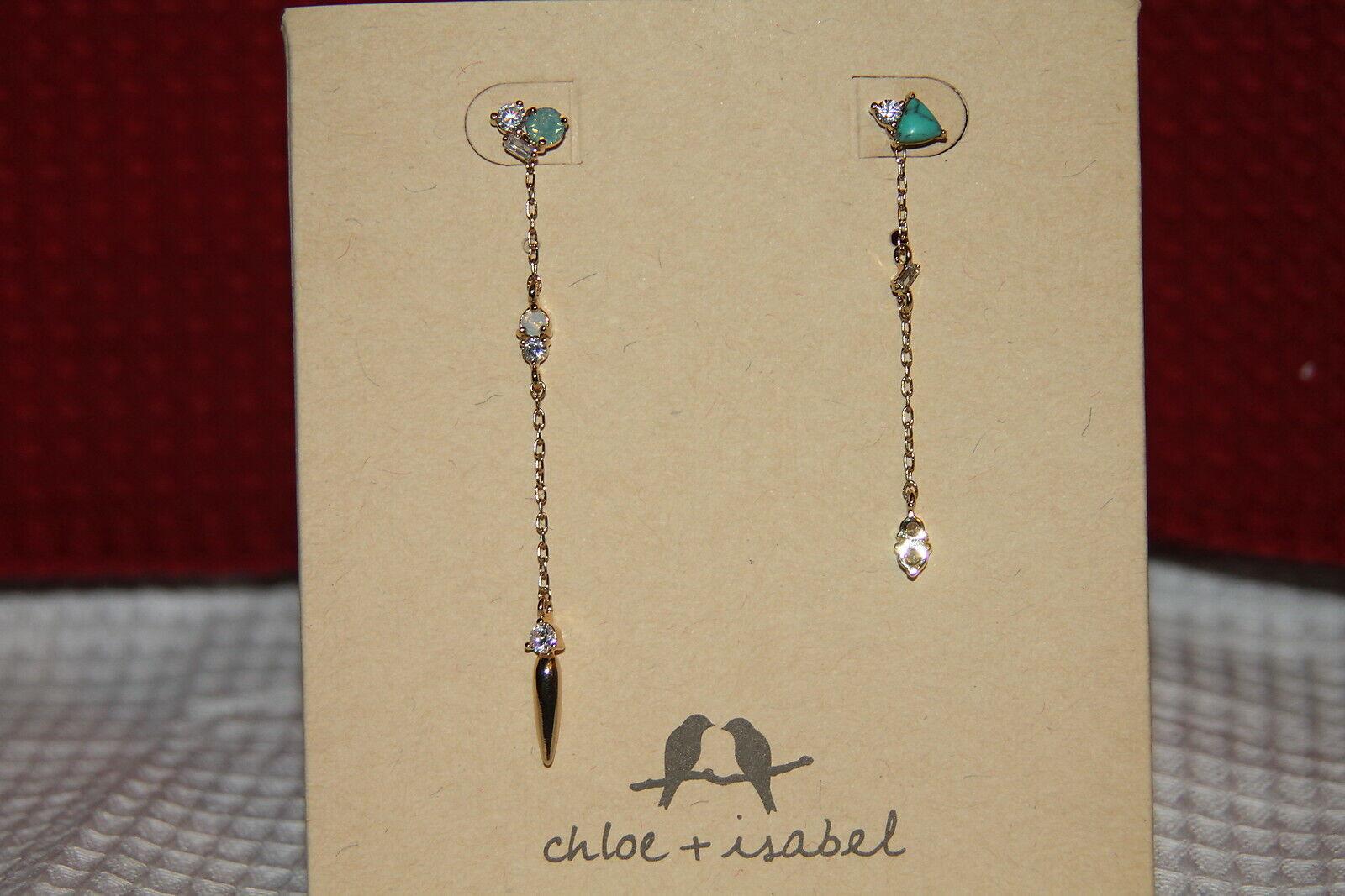 Chloe & Isabel Earrings (new) PETITE BIJOUX CRYSTAL CLUSTER MISMATCHE (E441GRSG)