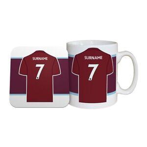 Burnley F.c - Personalised Ceramic Mug & Coaster Set (shirt) Apparence EsthéTique