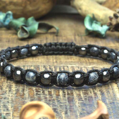 Bracelet style Shamballa Homme perles Pierre de gemmes 6mm fait main 1000ola
