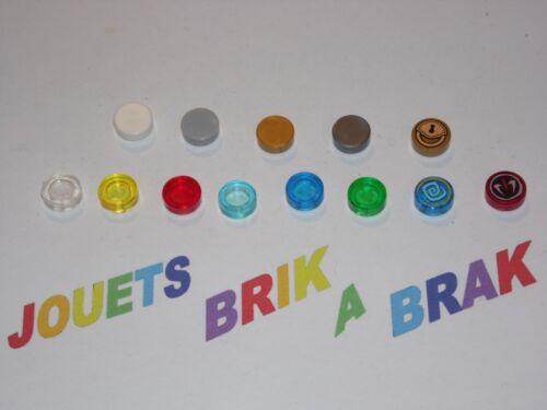 Lego plaque plate lisse carrelage tile de 1x1 round ronde choose color ref 98138