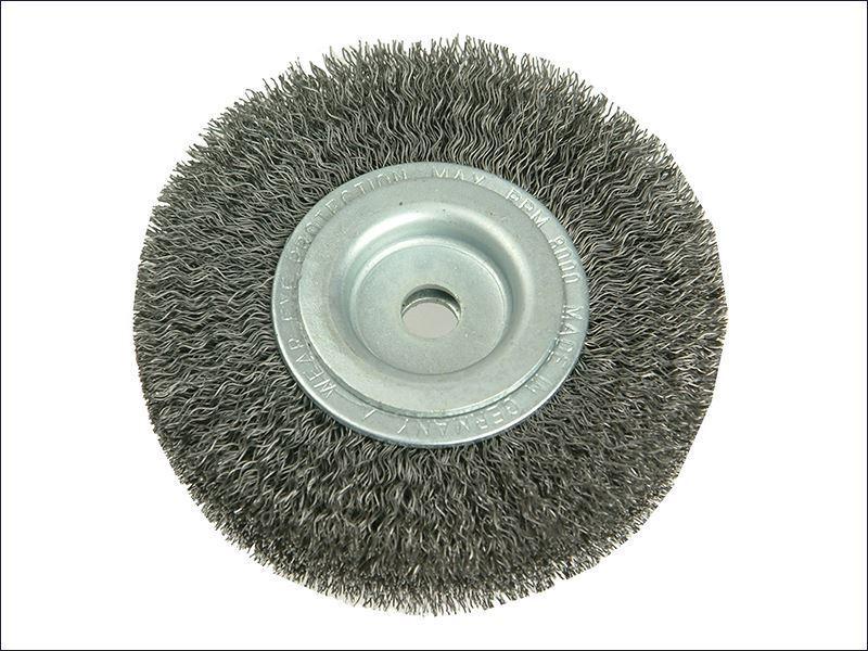 Lessmann - Wheel Brush D100mm x W20-22 x 30 Bore Set 1 Steel Wire 0.30