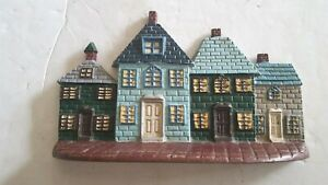 Vintage Cast Iron Houses Door Stop