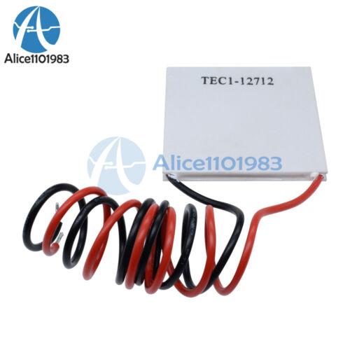 2PCS TEC1-12712 Heatsink Thermoelectric Cooler Cooling Peltier Plate Module