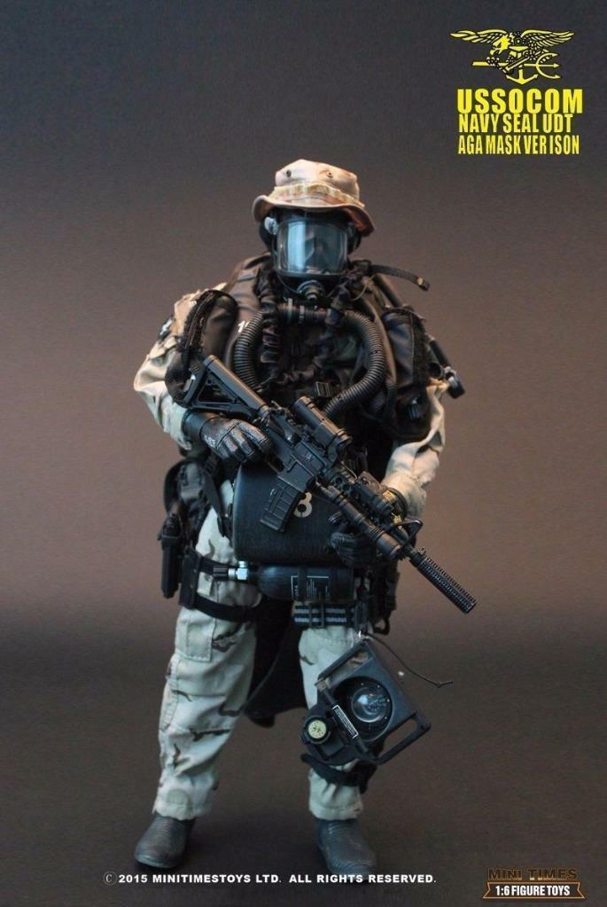 1/6 MiniTimes mini times USSOCOM Navy SEAL UDT - AGA Mask Version MIB in Hand