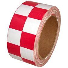 Checkerboard Vinyl Tape 2 X 36 Yard Roll Red White