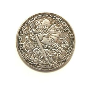 HOBO-NICKELS-SOUVENIR-DOLLAR-NO-DATE-USA-SILVERED-COIN-TOKEN