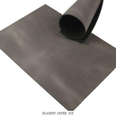 Rindleder Grau Pull-Up Design 3,5 mm Dick Vegetabil A3 Stück Leder 211