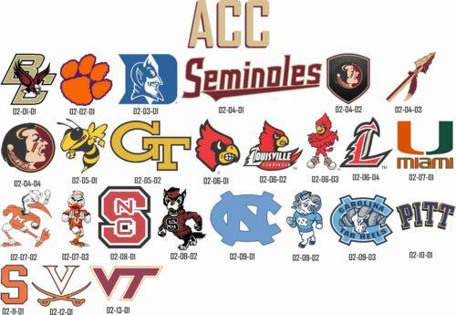 ACC Full Color Logos Alternate Logos Window vinyl decal BUY 2 GET 1 FREE