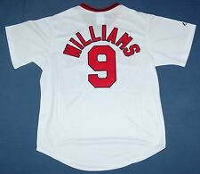 TED WILLIAMS BOSTON RED SOX MAJESTIC COOPERSTOWN SEWN JERSEY WHITE LRG