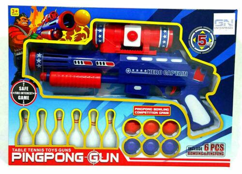 Kids PINGPONG Shooting Pistola giocattolo bambini set della concorrenza da Bowling Gioco Estate Giardino